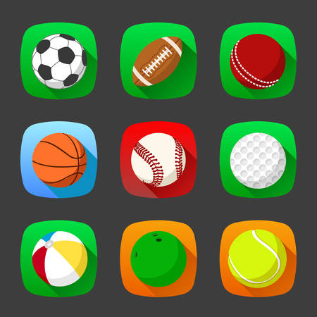 Set of sport icons in flat style Vector