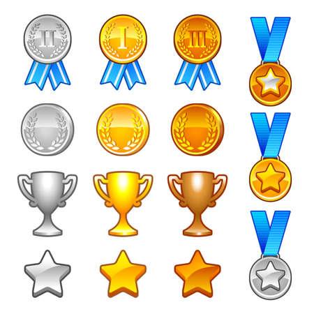 Wintersport-Auszeichnungen Standard-Bild - 25989238