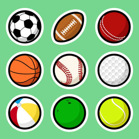 Ball stickers Vector