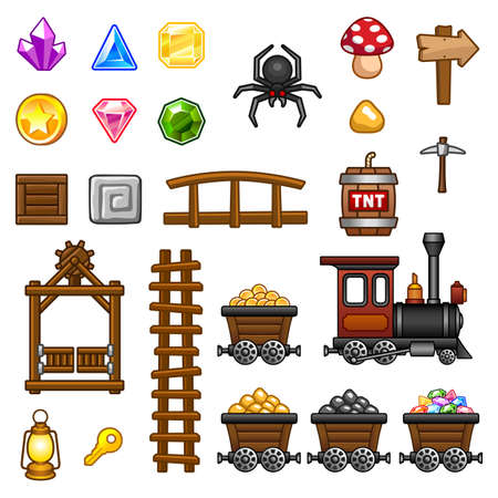 Mine assets  Vector