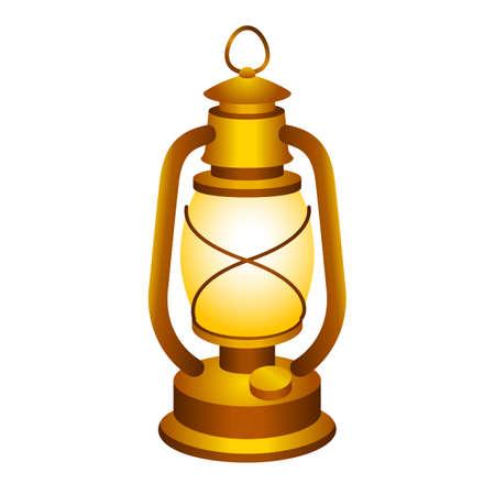 an oil lamp: Linterna Antiguo Vectores