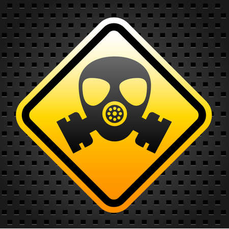 Warning sign with gas mask Stock Vector - 27246837