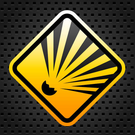 Explosion warning sign Vector