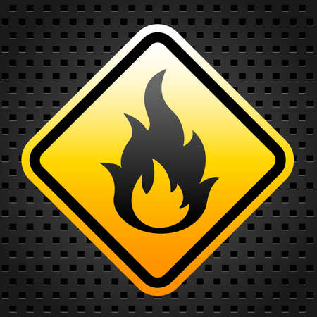 Fire warning sign Stock Vector - 27246852