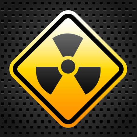 Radiation warning sign Stock Vector - 27246853