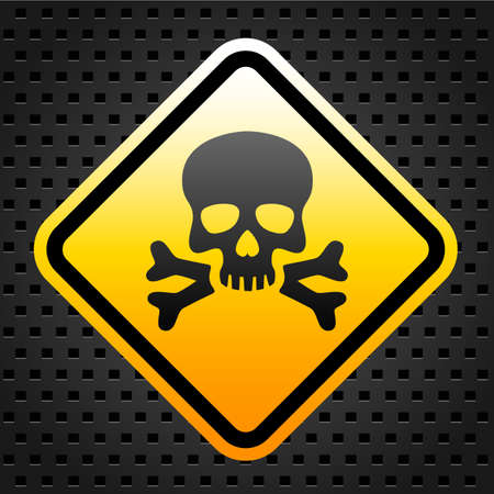 Warning sign with skull Stock Vector - 27246856
