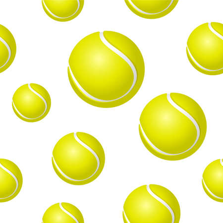 Tennis ball background Illustration
