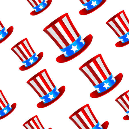 Uncle Sam hat background Vector