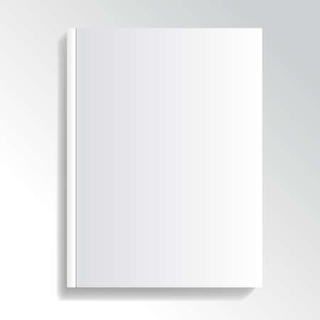 paperback book: Blank and white cover illustration Illustration