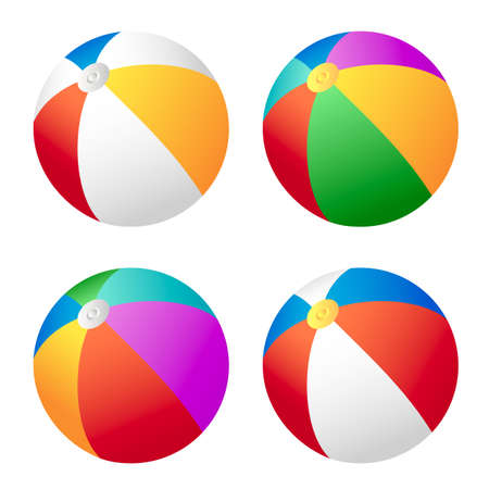 beach ball: Set of beach balls for your design. Illustration