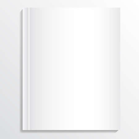 Opened book with blank pages for your designs. Illustration