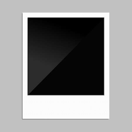 Blank polaroid photo frame for your designs.