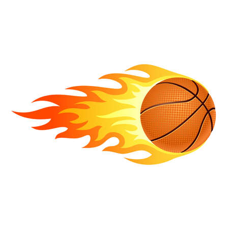 Illustration of ball in fire for your designs  Illustration