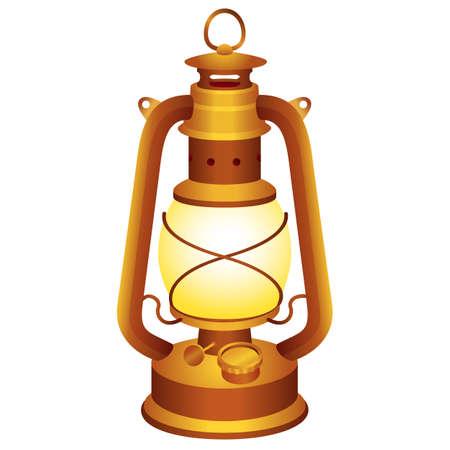 Old and vintage lantern for your design. Ilustração