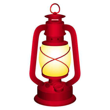 oil lamp: Old and vintage lantern for your design. Illustration
