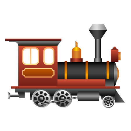 Old and vintage train for your design. Ilustração