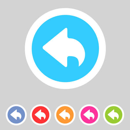 back button: Flat style game icons for your design  Illustration