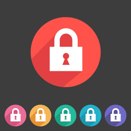 lock: Flat style lock icon for your game design