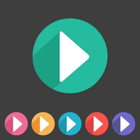 play: Flat style play icon for your game design