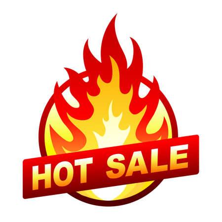 Heißer Verkauf Feuer Abzeichen, Preisaufkleber, Flamme Illustration