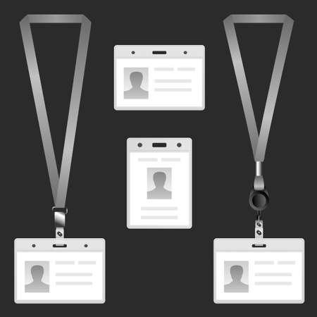 lanyard: Lanyard, name tag holder end badge, templates