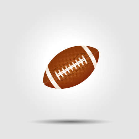 american football: American football ball isolated on white with shadow
