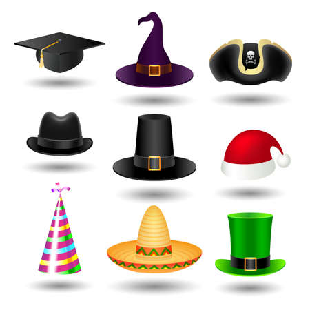 fedora hat: Party hat set