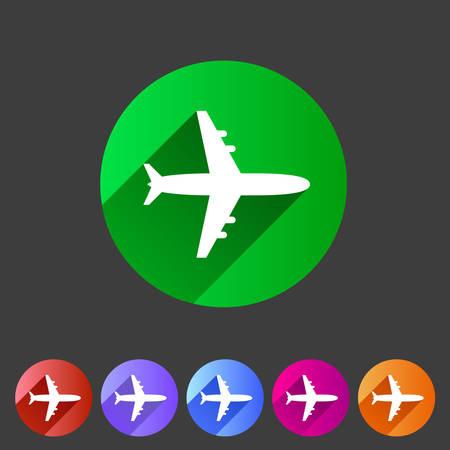 Airplane, plane flat icon Vector