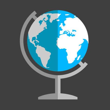 flat globe: Earth globe flat icon