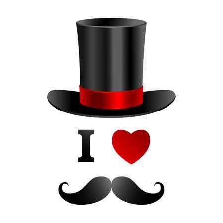 I love gentleman card  Ilustração