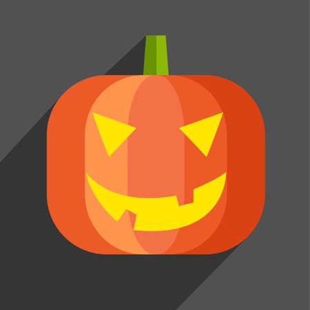 Halloween pumpkin icon Vector