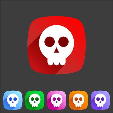 Skull flat icon Vector
