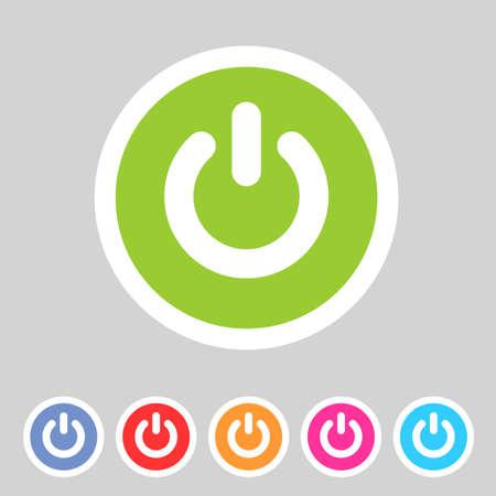 energia electrica: Energ�a del interruptor icono plana insignia Vectores