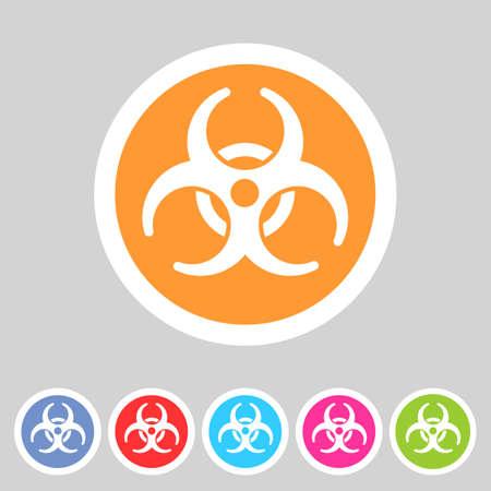 biohazard: Biohazard flat icon badge
