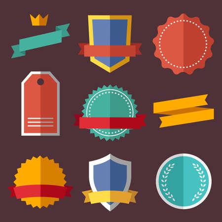 customer satisfaction: Vintage, retro flat badges, labels Illustration