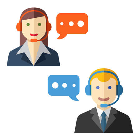 anonymity: Male and female call center avatars