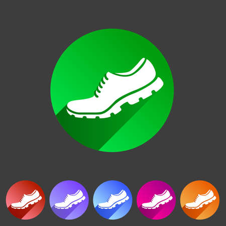 Running shoe, sneaker, trainer flat icon Vector