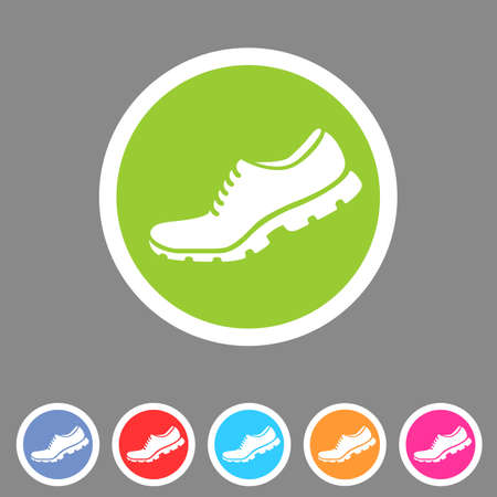 sport icon: Running shoe, sneaker, trainer flat icon