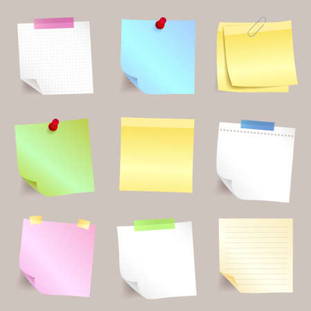 paper note: Different paper note set Illustration