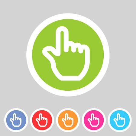 Drag hand flat icon Vector