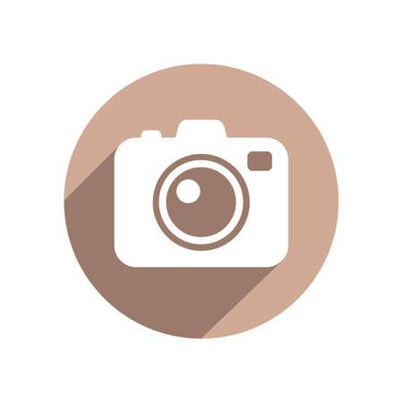 Foto-Kamera Flach Symbol
