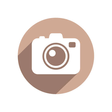 camera flash: Photo camera flat icon
