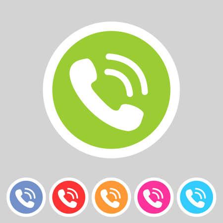 phone telephone flat icon  イラスト・ベクター素材