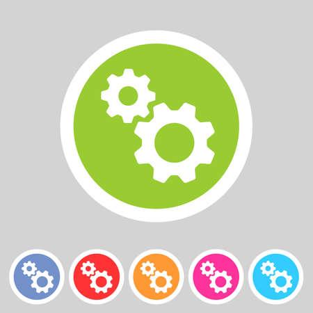 Flachgetriebeeinstellungen Symbol Standard-Bild - 33448896