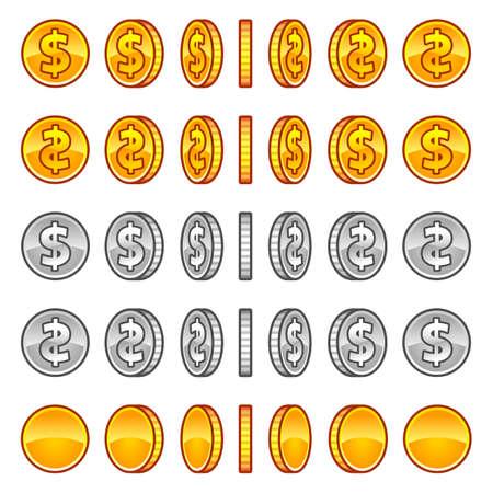 Dollar coins rotation