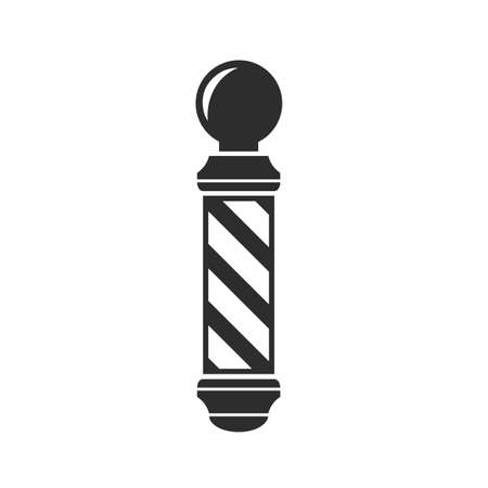 barbershop pole: Barber Shop pole segno Vettoriali