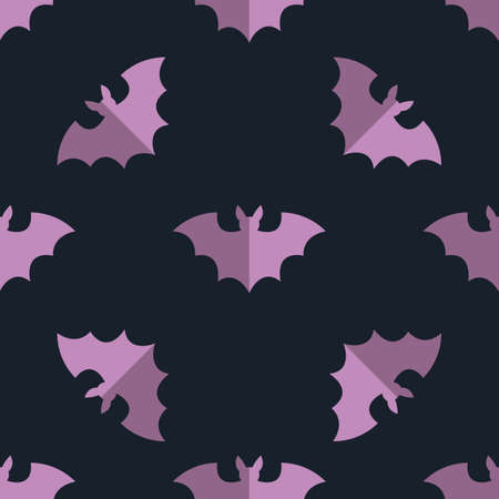 halloween pattern: Seamless bat background tile halloween pattern Illustration