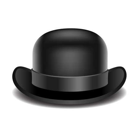 Bowler hoed op een witte achtergrond