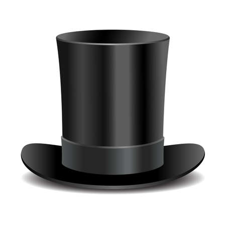 シリンダー黒紳士帽子
