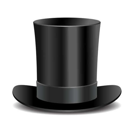 sombrero: Cilindro sombrero de caballero negro Vectores
